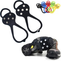 5 Spikes Anti-Slip Ice Traction Grips Cleats Silicone Crampons